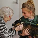 Animal-magic with care home resident